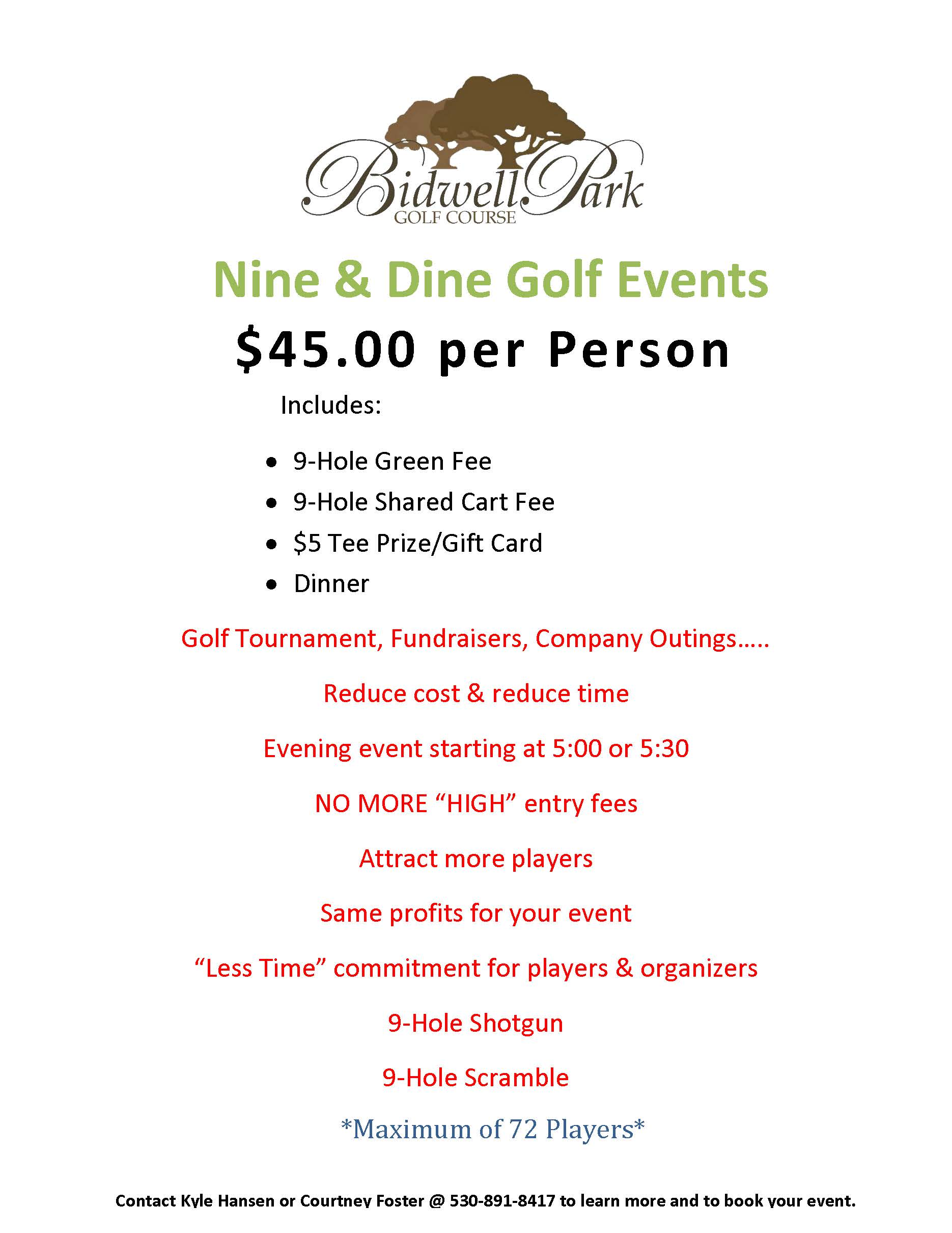 9 Hole Scramble Events 1
